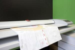 Plotten von Plänen und anderen Dokumenten.
